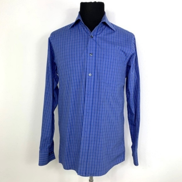 MICHAEL KORS Blue Stripe Button Down Dress Shirt